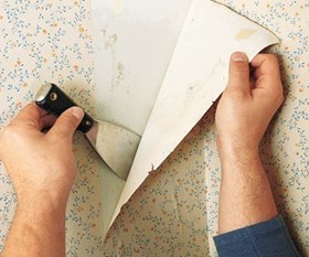 Wall Paper Removal wallpaper removal - men in white painting