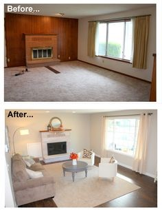 Genial Before And After Wood Paneling