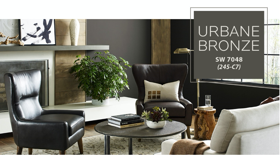 Sherwin-Williams' Urbane-Bronze is part of their 2021 paint color trends.